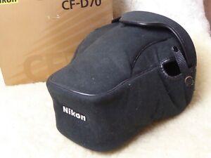 Black Suede Genuine Nikon CF-D70 custom fit case D70 Digital SLR + 18-70mm Lens