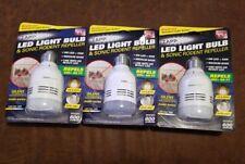 (3 Pack) Zapplight(R) Led Light Bulb & Sonic Rodent Repeller Led-Zapp-Rr