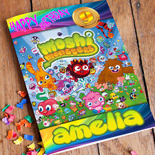 Moshi Monsters Birthday Card - Professionally printed and personalised