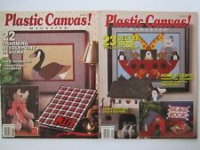Plastic Canvas Magazines 1989/90 Noah's Ark Crayon Box Tissue Bazaar Projects