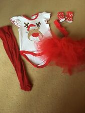 5 Piece My First Christmas Age 3-6 Months Baby Girls Set