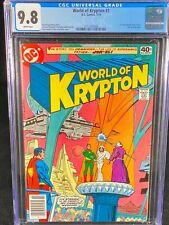 World of Krypton #1 CGC 9.8 Superman 1979 First Comic Book Mini-Series DC A331