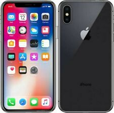 UNLOCKED Apple iPhone X 64GB Gray Cell Phone  AT&T T-Mobile Ultra Metro *MINT*