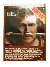 Gordon Lightfoot Poster OLD 70s face shot Vintage