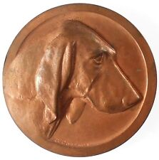France canine award cattle dog BLOODHOUND copper 50mm by Contaux