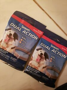 2 packs Sergeants Dual Action Flea & Tick Collar... for dogs new last 3 months