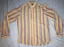 Men's Ralph Lauren Purple Label Button Down Shirt Striped Size M Colorful Italy