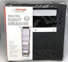 Zebra Striped Hanging 6-Shelf Closet Organizer Shoes Hats Clothing Storage NEW