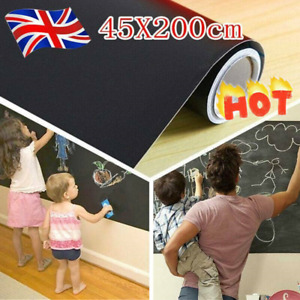 Kids Adult Chalk Board Removable Blackboard Vinyl Art Draw Room Outdoor Stickers