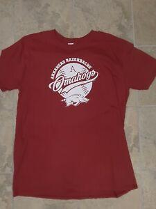 "Arkansas Razorbacks Baseball -  ""OMAHOGS""  T-shirt  2021"