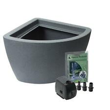 Above Ground Pond Kit Fountain Corner Deck Balcony Garden Outdoor Plastic Pump