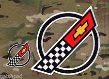 """VETTE CORVETTE RACE TEAM '84-'96 C4 FRONT HOOD NOSE EMBLEM 9.5"""" + 3.5"""" 2-PATCH"""