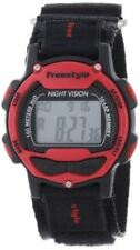 102284 Freestyle  Predator Red Black LAP Digital Canvas strap band Watch NEW!