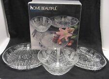 Home Beautiful Crystal Georgetown 3 Piece Hostess Set Platter Divided Dish Bowl