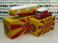 PIN3G + PIN4B 1/43 IXO CIRQUE PINDER : ENSEMBLE camion Directeur assomption