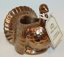 BATH BODY WORKS TURKEY SMALL MINI CANDLE HOLDER SLEEVE 1.3 OZ CERAMIC WHITE BARN
