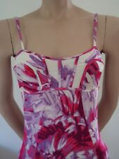 JUST CAVALLI Robe stretch jersey Print Bustier Rose Made in Italy 36