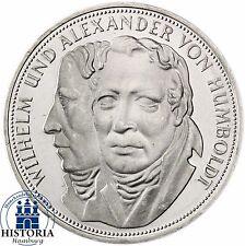 Deutschland 5 DM Silber 1967 Stgl Alexander & Wilhelm von Humboldt in Münzkapsel