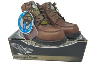 Georgia Boot Womens G3028 Leather Hiking Chukka Dark Brown Boots US 11 WIDE K193