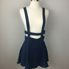UO Black Suspender Overall Cage Mini Skirt sz 4 Urban Outfitters NEW with tag