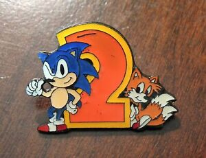 Vintage Sonic The Hedgehog 2 Promo Pin, Sega 1992, RARE, *Good Condition*