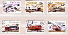 """"""" Briefmarken mit Motiv Eisenbahn """"    Vietnam  1988     A31"""