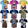 New Womens/Mens Dragon Ball Z Goku Vegeta Anime 3D Print Casual T-Shirt Tee Tops
