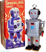 SPARKLING MIKE ROBOT WINDUP TIN TOY SCHYLLING - FREE SHIPPING!