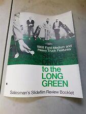 NOS 1968 FORD MEDIUM HEAVY TRUCK SALESMANS SLIDE FILM REVIEW BOOK BROCHURE RARE