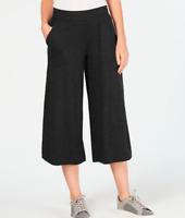 Ideology NWT $54 Cropped Wide-Leg Pants, Charcoal Heather Gray, Size XL     FF21