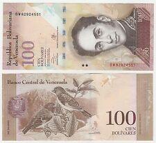 Venezuela 100 Bolivares 2013 P-93h UNC Uncirculated Banknote