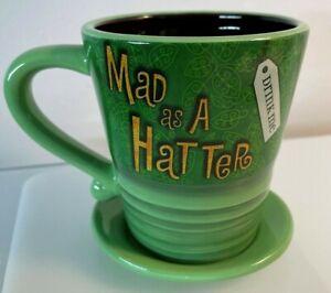 """Disney Mad Hatter Mug Alice in Wonderland """"Mad as a Hatter"""" Tea Mug Cup"""