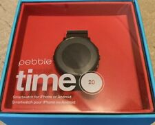 Pebble Time Round Smartwatch 20mm Black - 601-00049 - Used