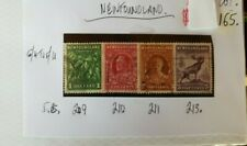NEWFOUNDLAND 1 GROUP OF 4 USED STAMPS SEE PHOTO