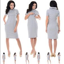 Purpless New Nursing Breastfeeding Funnel Neck Short Sleeve Dress Tunic 6225