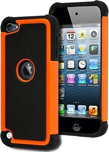 For iPod Touch 5th 6th & 7th Gen - Hard & Soft Hybrid Nonslip Armor Case Cover