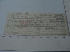 Original Vintage Receipt -- DEERING HARVESTER CO. -- 1903