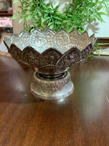Antique Indiansilver footed bowl