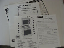Roper Double Oven Ranges Gas Repair Parts Manual & Installation Guide 1970s