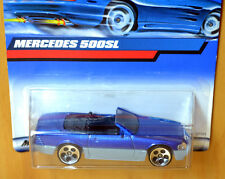Hot Wheels Mercedes 500SL Convertible [Blue/Grey] - New/Sealed/Rare