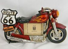 """Route 66 Motor Cycle Picture Frame 3"""" X 2"""" Photo Trip Vacation Souvenir Resin"""