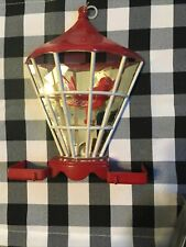 Vintage Mirrored Bird Cage Feeder Wall Hanging Farmhouse Old Celluloid Plastic