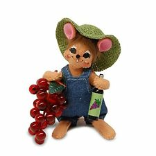 """VINEYARD MOUSE 5"""" Poseable Decoration Holiday Gift Idea for Wine Lovers"""