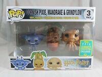 Harry Potter Funko Pop - Cornish Pixie, Mandrake & Grindylow 3 Pack - SDCC Excl