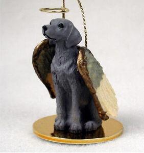 Weimaraner Ornament Angel Figurine Hand Painted
