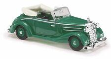 Busch H0,40513,Mercedes-Benz 170S Convertible abierta Verde,Vehículo Modelo 1:87