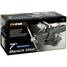 """7"""" Mechanic Bench Vise, 270° locking swivel base, Pipe jaws, Hardened Steel Jaws"""