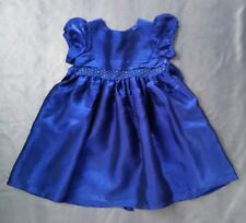 New Debenhams Babble Boom Midnight Blue Beaded Party Dress -lined 18-24mths