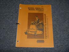 Woods Rm59e 2 Rear Finish Mower 540 Pto Tractor Operator Maintenance Manual