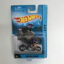 Canyon Carver Hot Wheels City Diecast Motorcycle with Rider